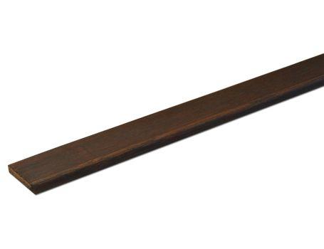 Bamboe afdeklat - taupe - gelakt
