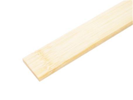 Bamboe afdeklat - wit gelakt