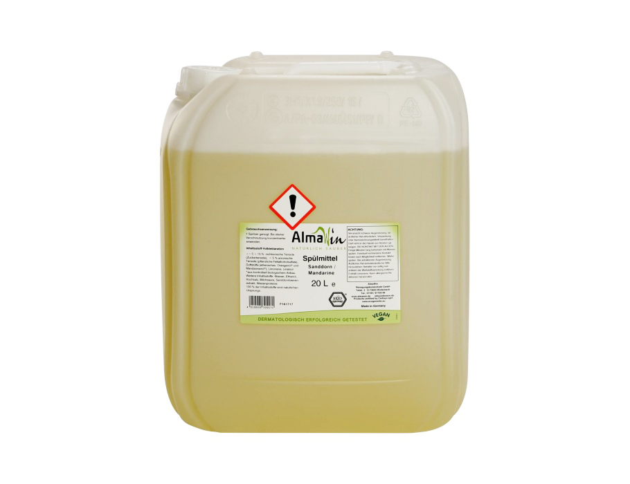 Afwasmiddel Duindoorn & Mandarijn 20L + kraantje