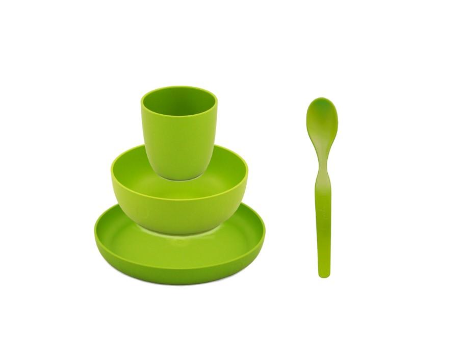 Servies Geschenkset Bioplastic - Groen