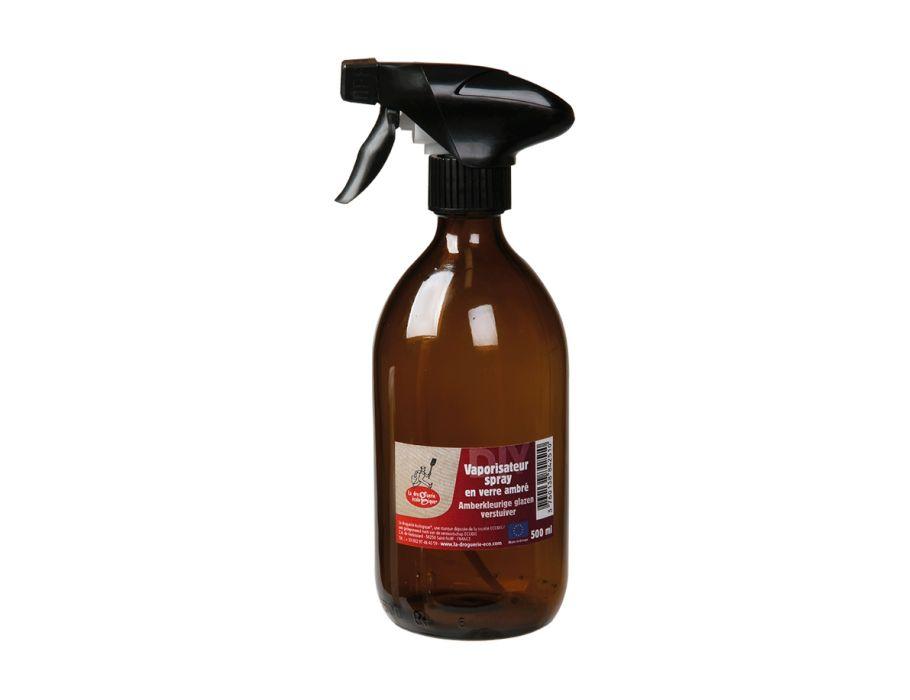 Glazen sprayfles 500 ml amber