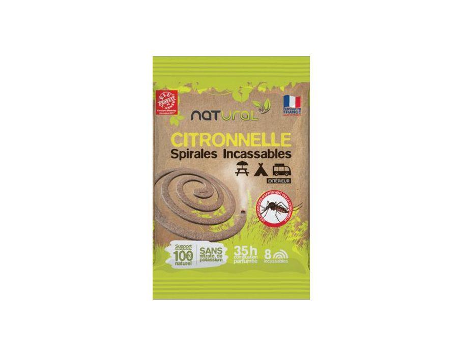 Anti Mug Spiraal Citronella. 8 stuks