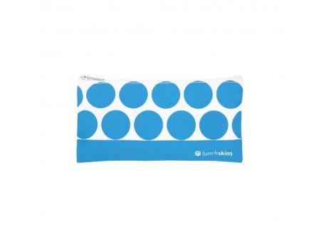 Lunchskin - Small zip - Aqua Dot