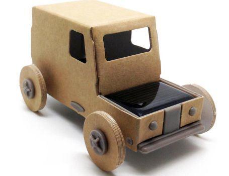 Bouwpakket - Autogami taxi met zonpaneel