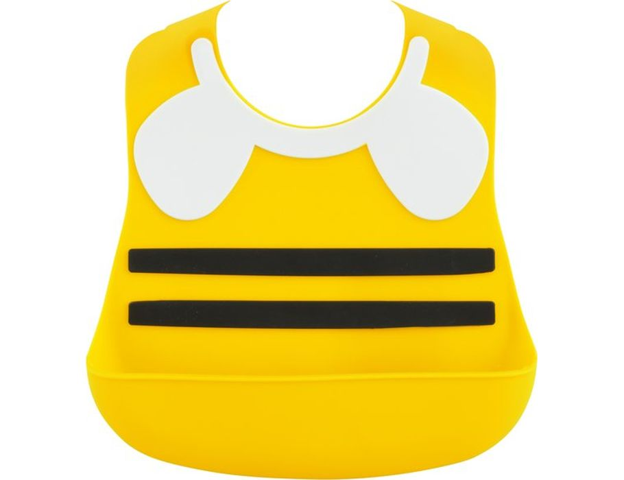 Baby-lätzchen aus silikon - biene