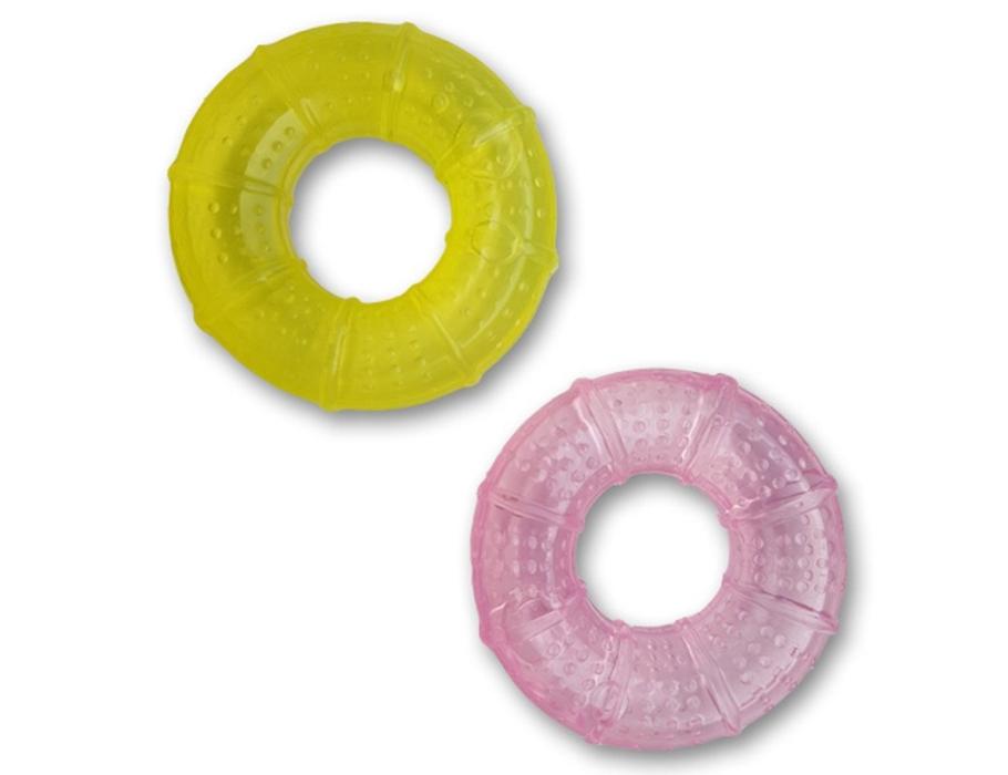 Bijtring 2 stuks - roze en geel