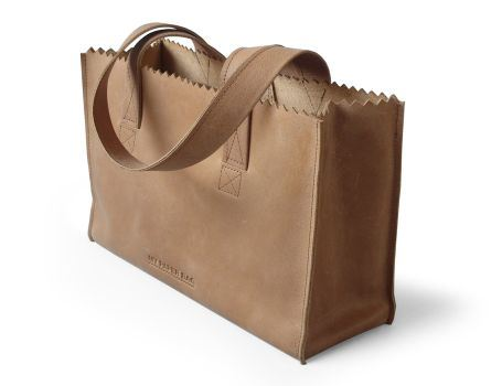 My Paper Bag Handbag met rits blond