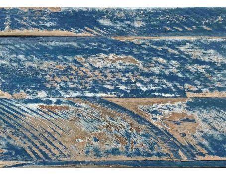 Wandbekleding hout Ocean Blue