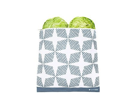 Lunchskin gallon zip bag - Blue Geometric