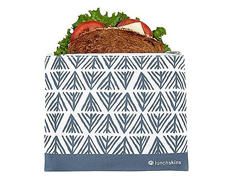 Lunchskin medium zip bag - Blue Geometric