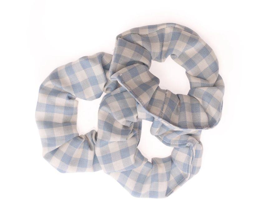 Plasticvrije Scrunchies - set van 3 - Babyblauw