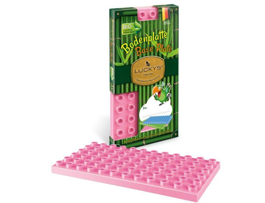 Bodemplaat voor Luckys bouwstenen - Roze