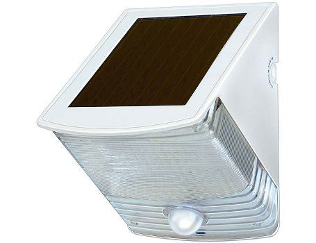 Solar led wandlamp - Wit