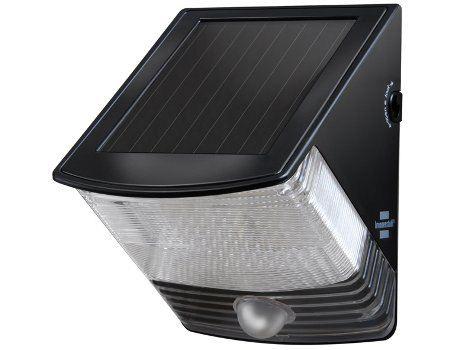 Solar led wandlamp - Zwart