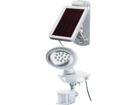 Buitenlamp met bewegingsmelder Sol 14 wit