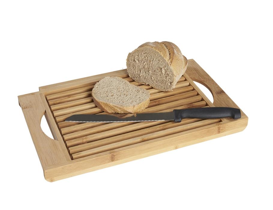 Broodsnijplank bamboe - met broodmes