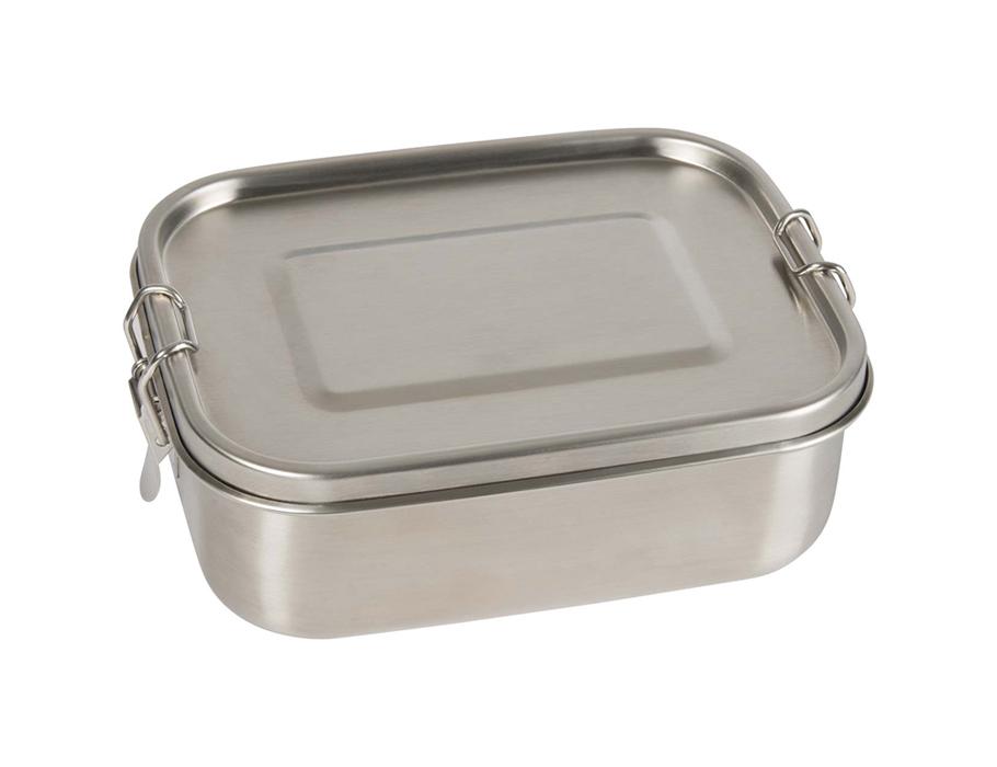 Lunchbox RVS - met verdeler en siliconen ring