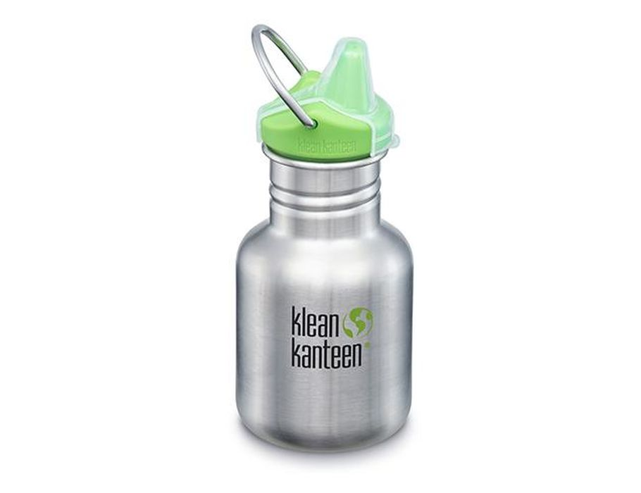 Kid Kanteen Sippy 12oz met beugel  Brushed