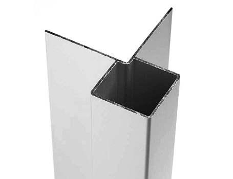 Aluminium buitenhoek voor gevelbekleding - Crème