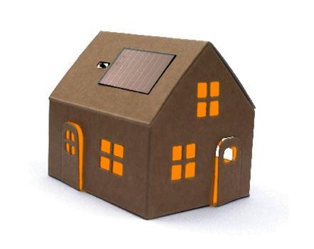 Bouwpakket – Casagami huisje met zonnepaneel