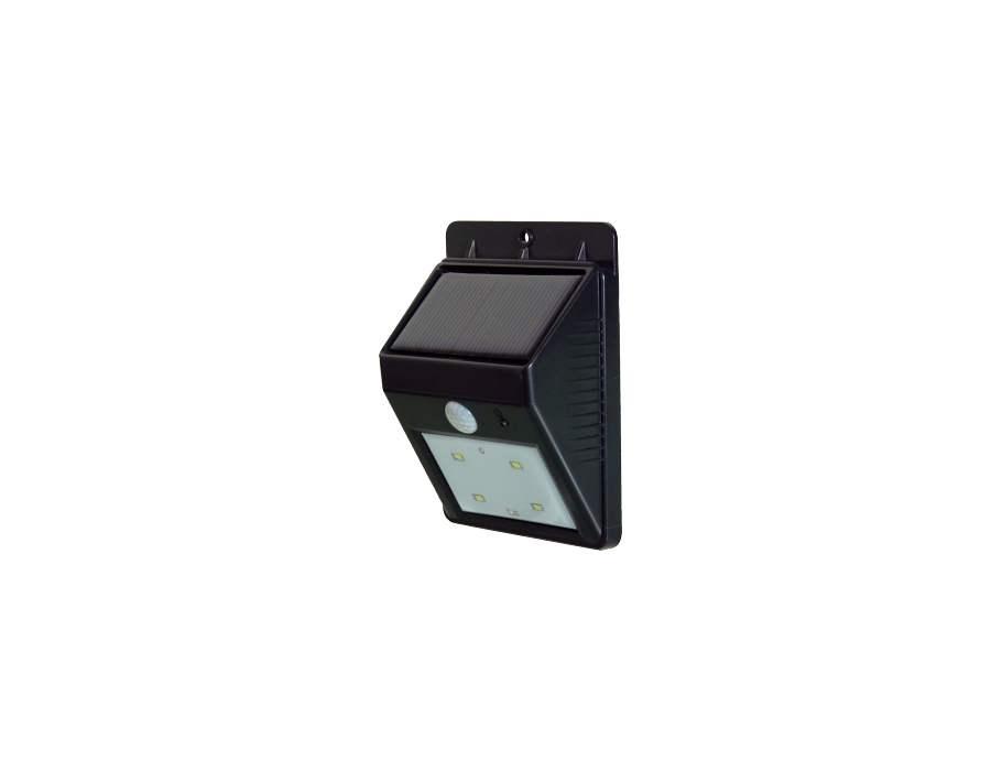 Buitenlamp met bewegingsmelder op Zon en 4 LEDs