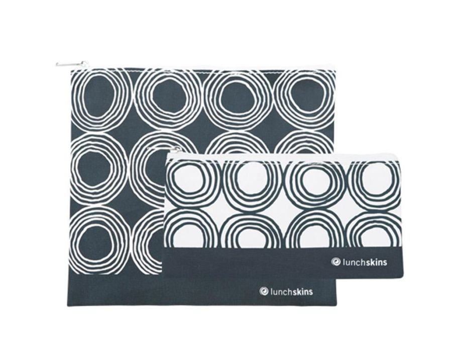 2 pack Zip set – Charcoal Circles