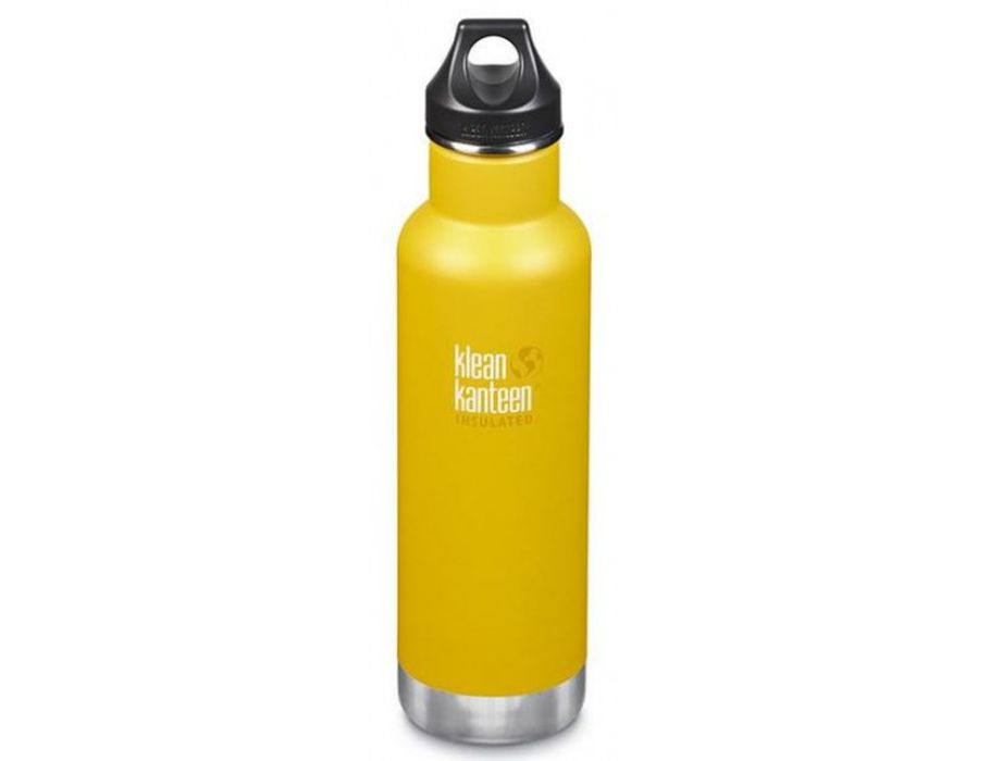 20 oz Classic geïsoleerde Drinkfles met Loop Cap - Lemon Curry