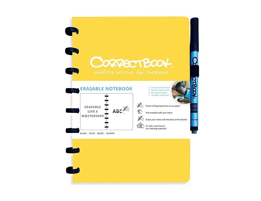 Correctbook Notitieboek A5 geel - blanco
