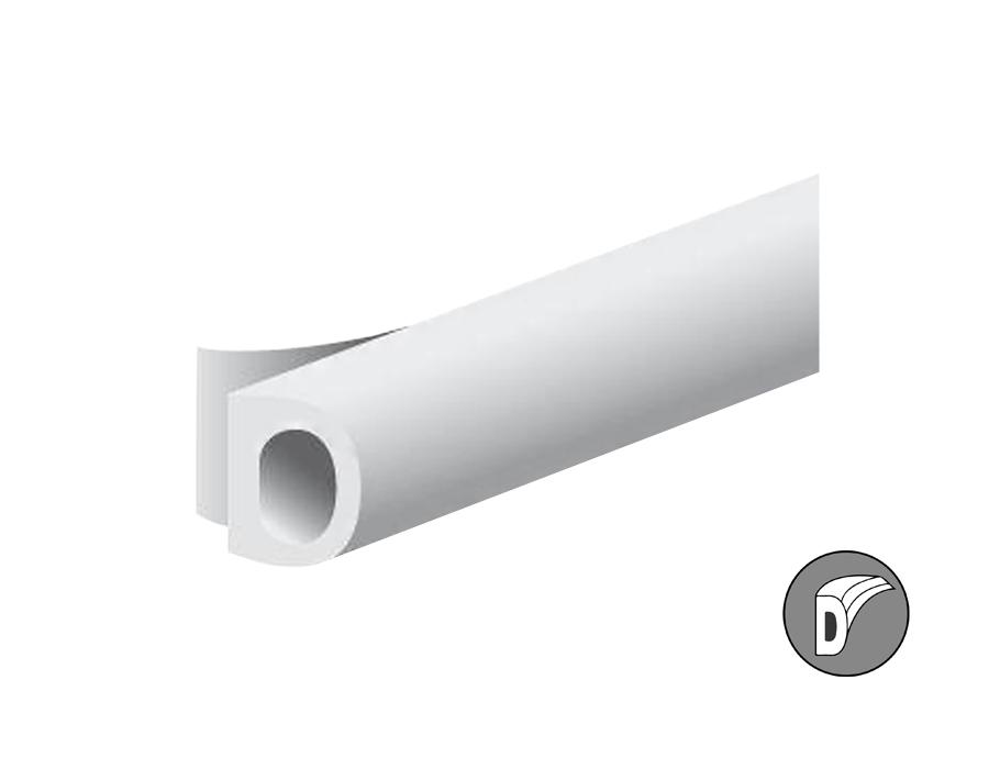 Tochtband d-profiel - wit - 8x6mm - 7.5m