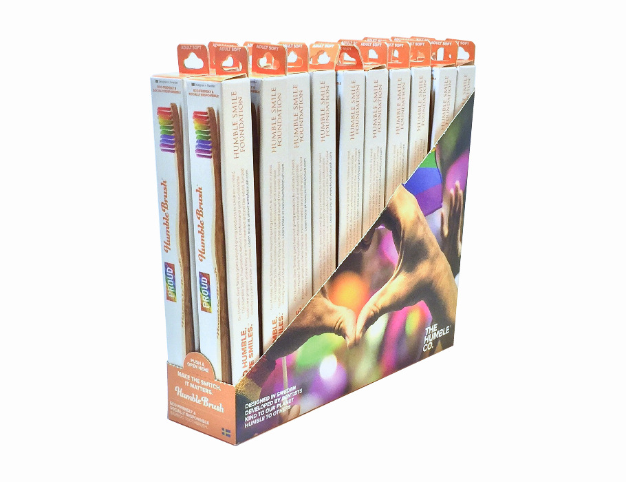 Tandenborstel - bamboe - display (20st)
