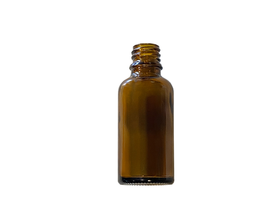 Glazen druppelflesje - leeg - 30 ml