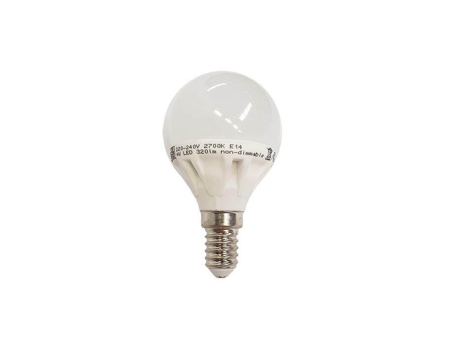 Ledlamp - E14 - 320 lm - kogel - mat