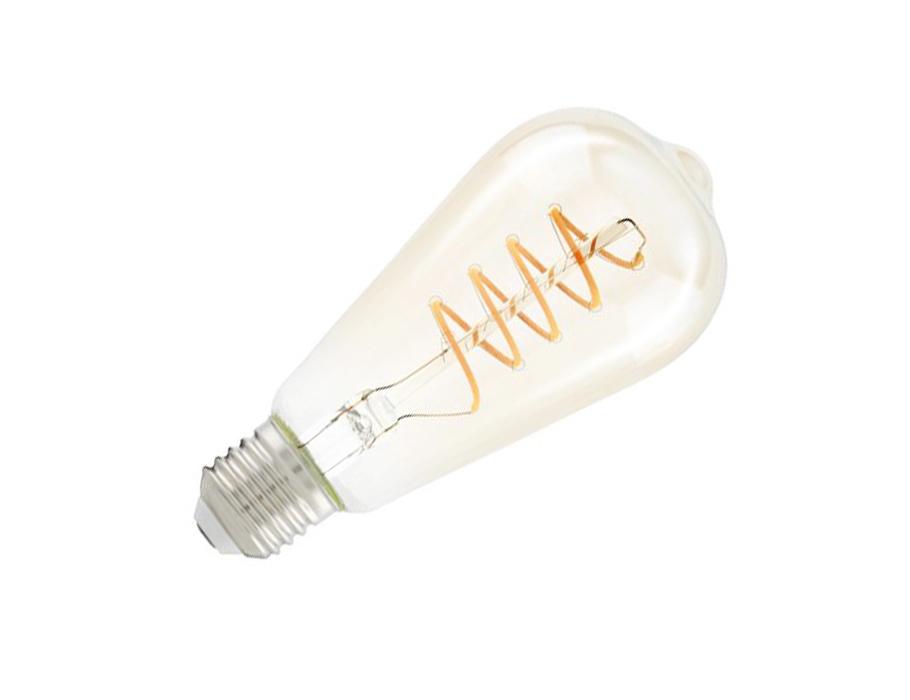Led-Lampe - E27 - 260 lm - Oval - Bernsteinfarben