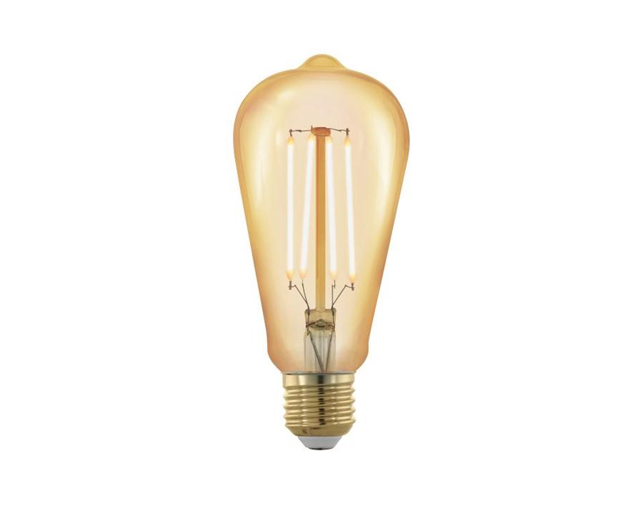 Ledlamp - Oval - E27 - 320 lm - Bernstein - Dimbaar - 1700K