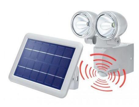 Solar PIR buitenlamp - duo power II
