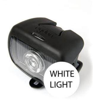 Fietslamp op zonlicht voorlicht