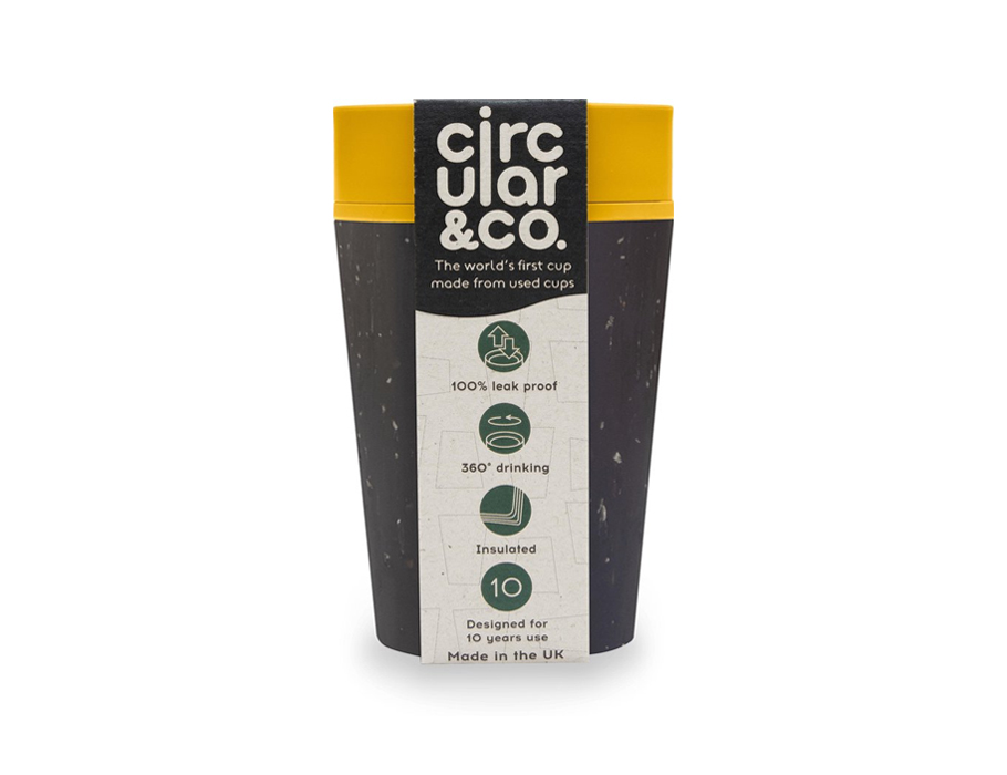 rCUP 227 ml - Black and Mustard