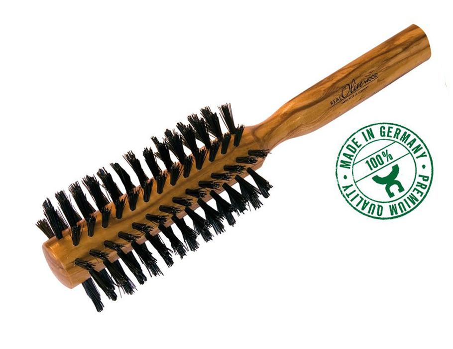 Haarbürste aus Olivenholz