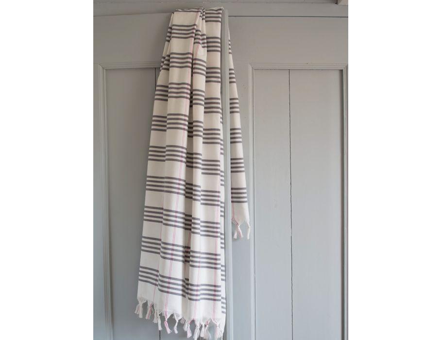 Hamam handdoek - 170 x 100 - dark gray
