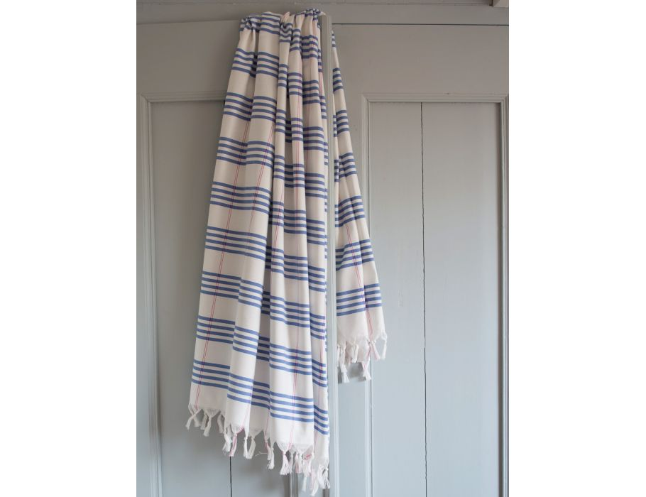 Hamam handdoek - 170 x 100 - greek blue