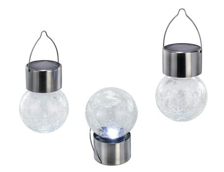 Hanglampjes set 3st led zon helder crackle