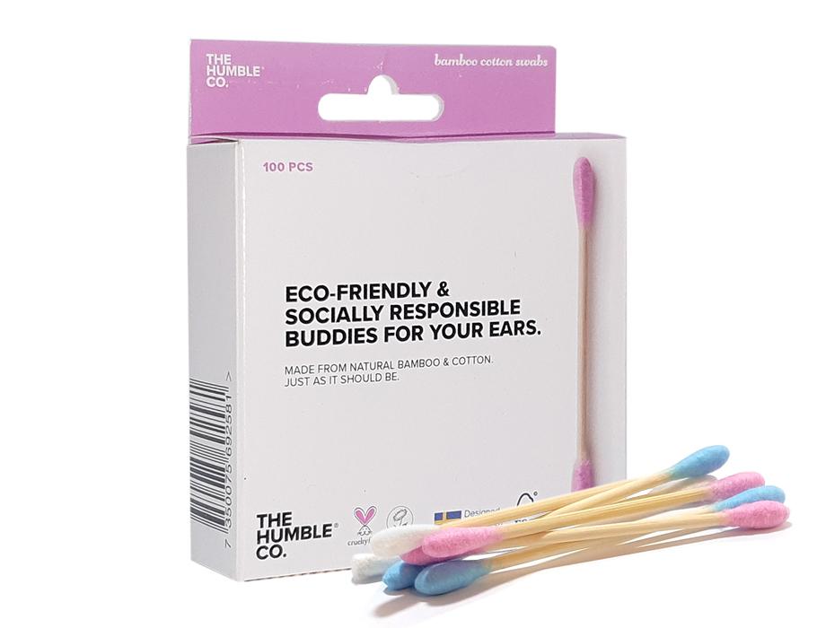 Bamboe wattenstaafjes - Roze