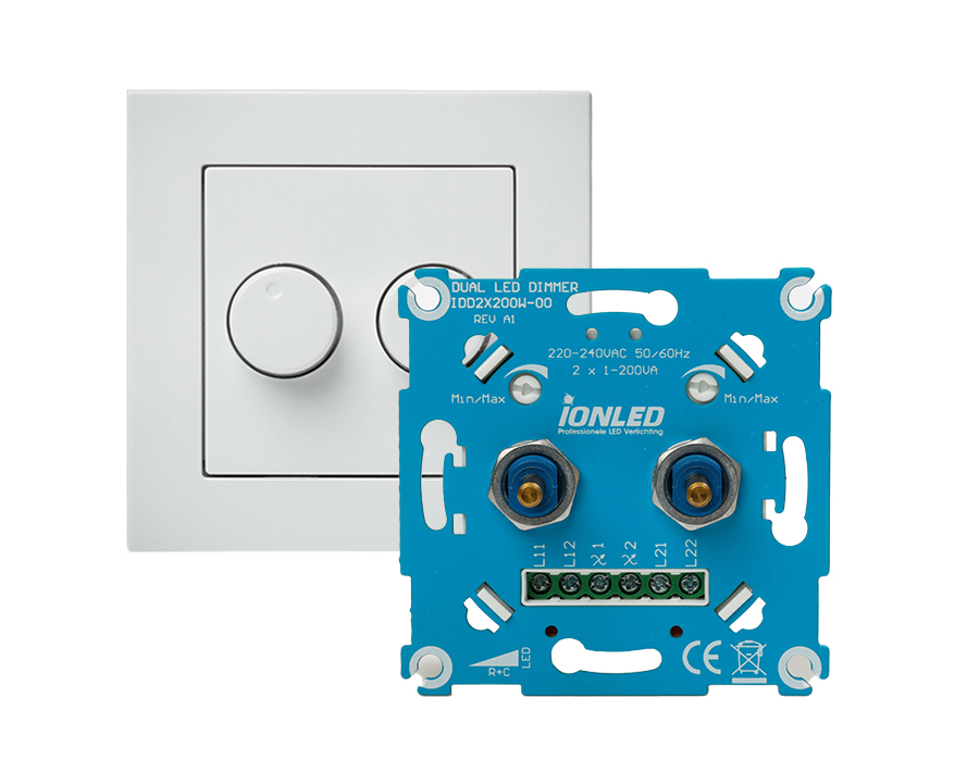 LED-Dimmer - Universal - Duo - 2 x 200 W