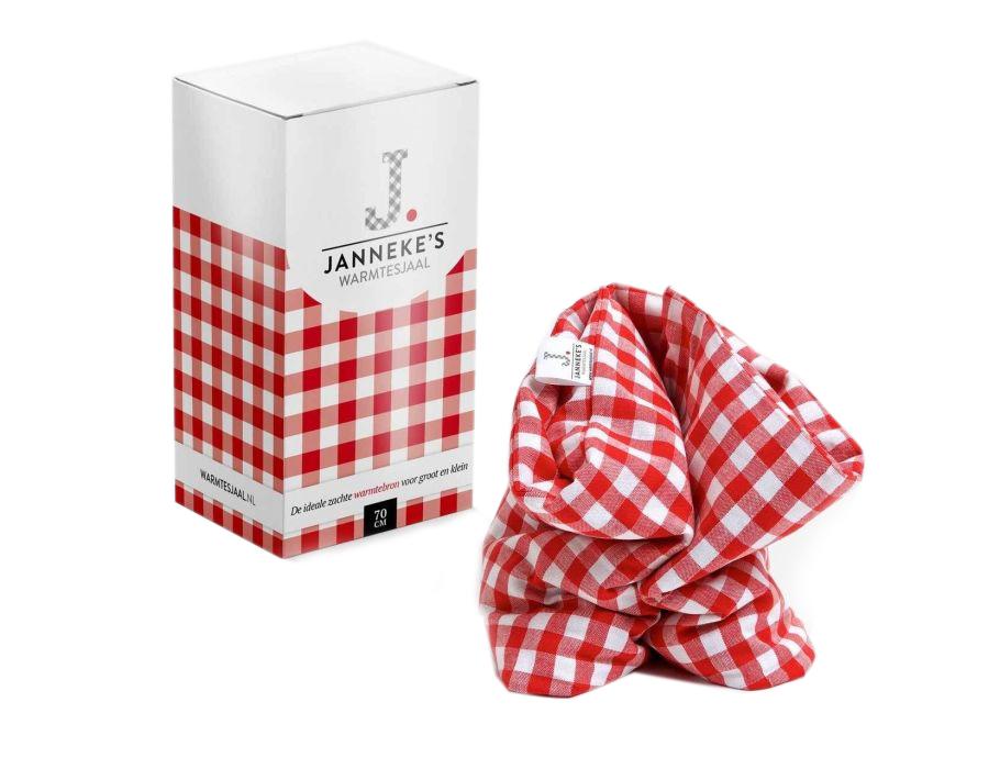 Jannekes warmtesjaal - Rood