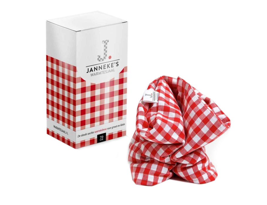 Jannkes Schal Warme - Rot