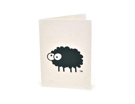 Wenskaart van schapen keutels