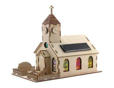 Bouwpakket - Kerk met zonnepaneel