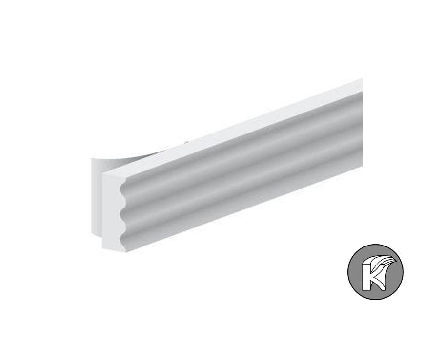 Verfolgungsband K-Profil - weiß - 9x3mm - 7,5m