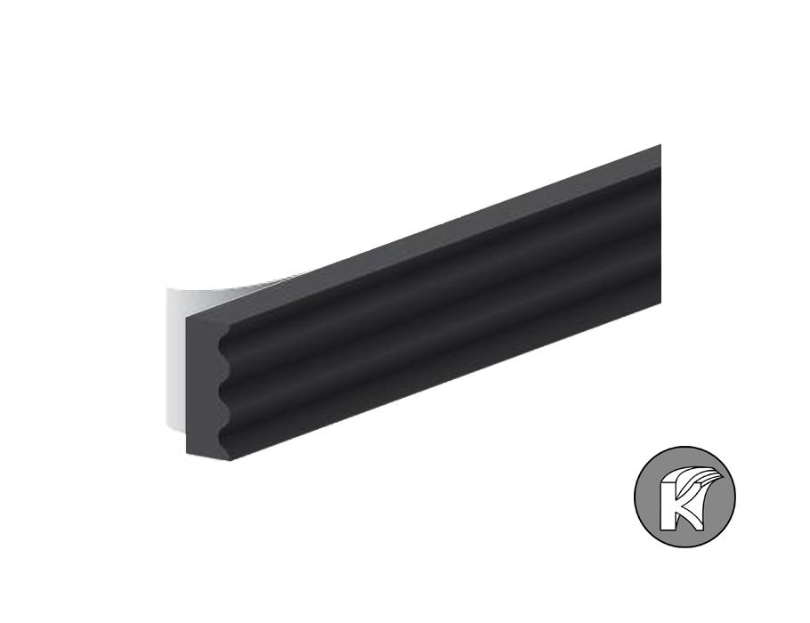 Tochtband k-profiel - zwart - 9x3mm - 7.5m