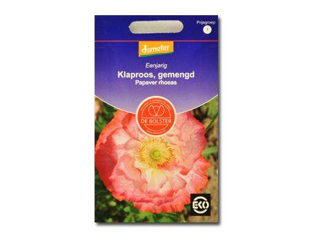 Biologische bloemen Klaproos